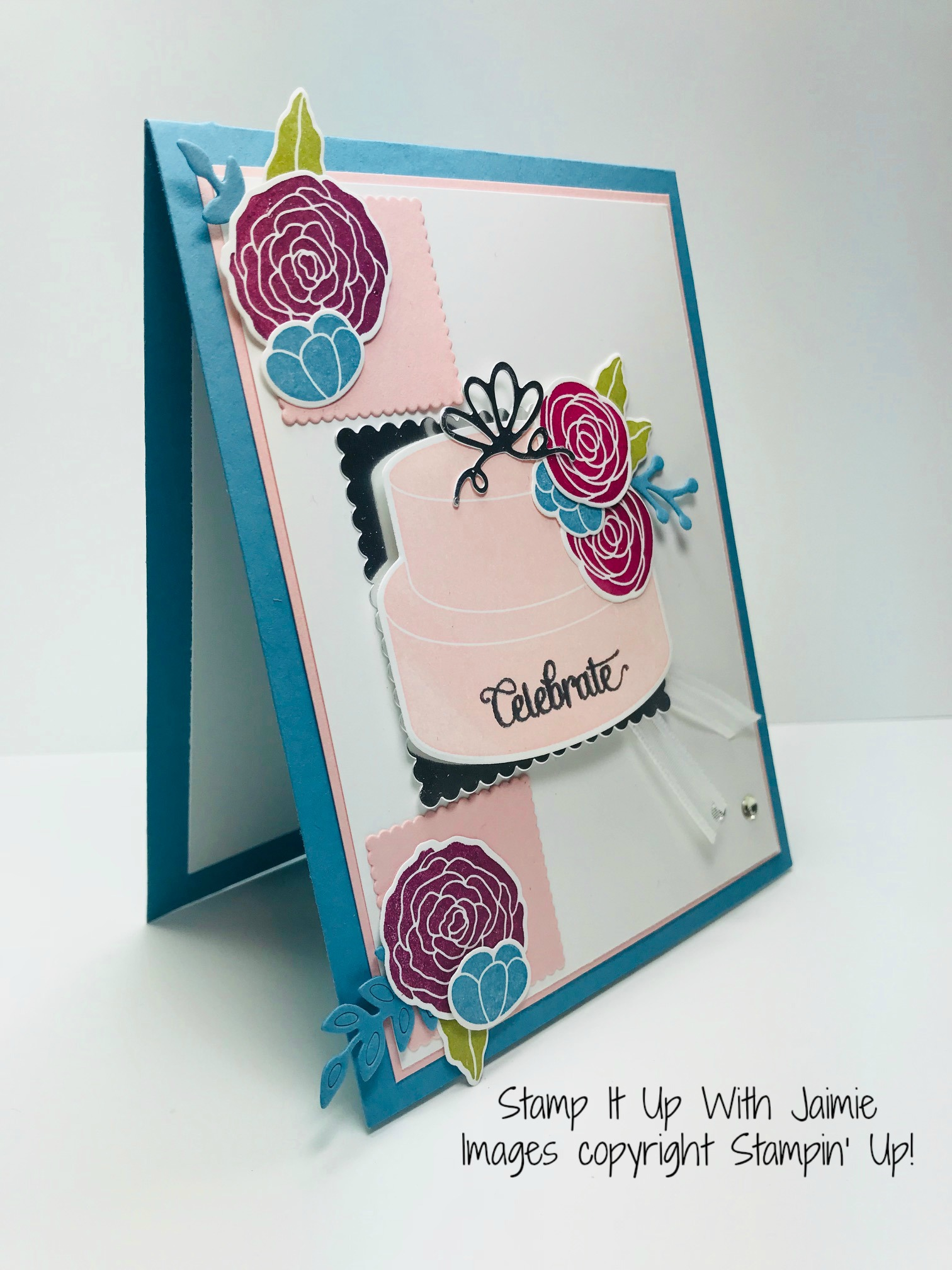 Stampin Up Cake Soiree Celebrate Card Stamp It Up With