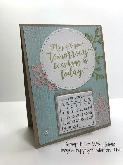 Blank Calendar Stamp : Stampin up calendar stamp it with jaimie