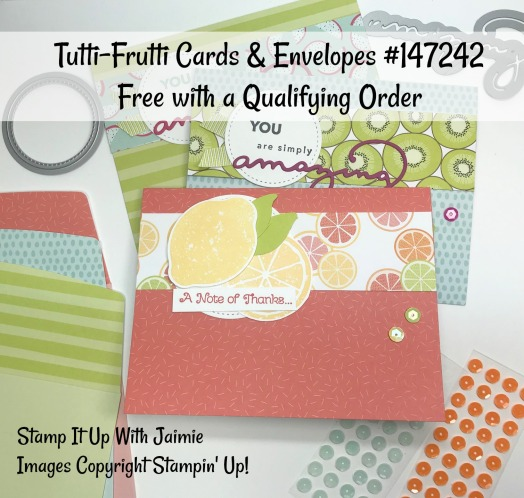 Stampin' Up! Tutti-Frutti Cards & Envelopes – Stamp It Up