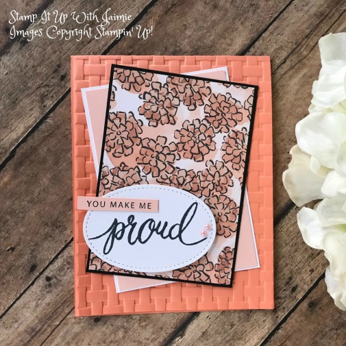 Expression Of Words Written In Ink: Stampin' Up! Friendly Expressions Card