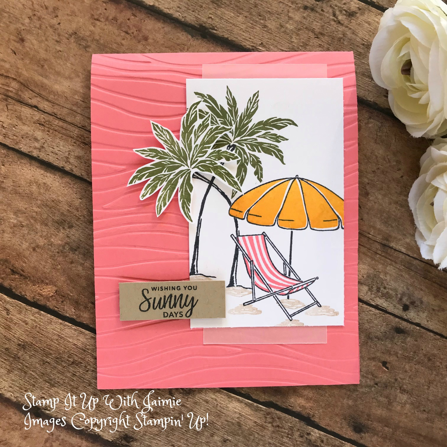 Stampin Up Beach Happy Card Stamp It Up With Jaimie