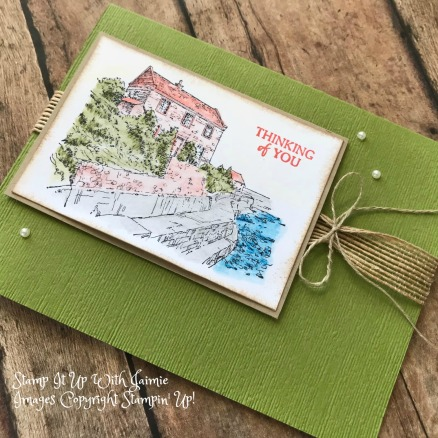 Stampin' Up! By The Bay Video Tutorial – Watercolor Pencils