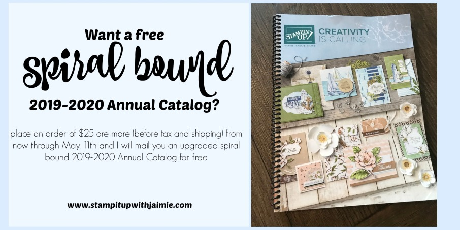 Free Spiral Bound Annual Catalog – Stamp It Up with Jaimie