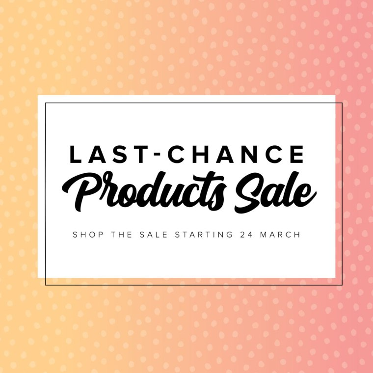 Stampin' Up! Retiring Last Chance Sale