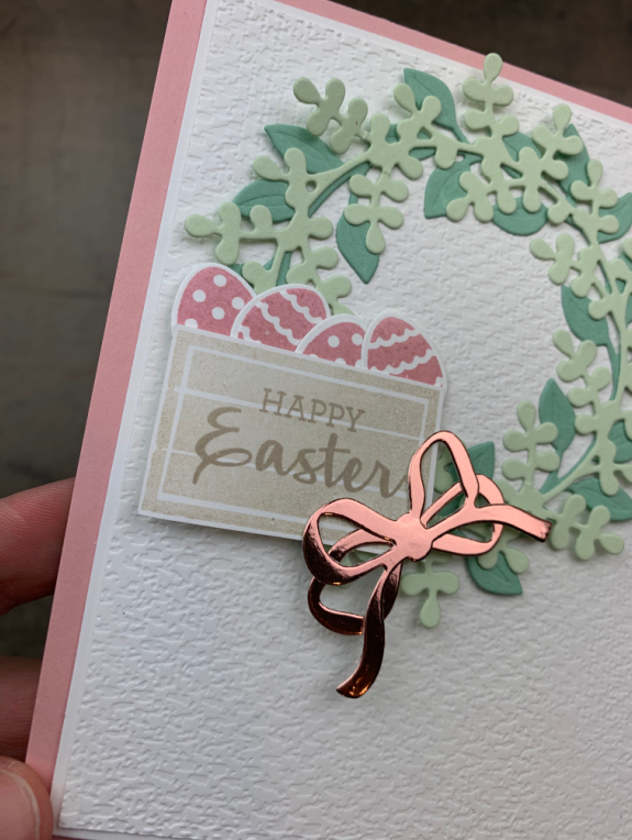 Stampin' Up! Arrange a Wreath Easter Card