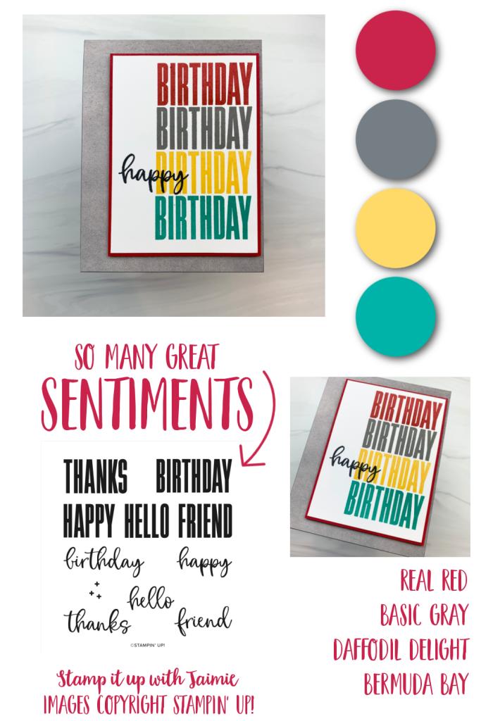 Stampin' Up! Biggest Wish Birthday Card