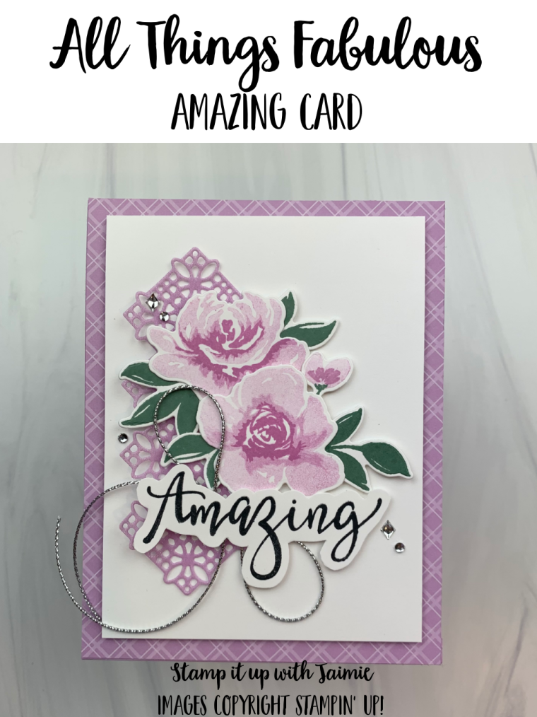 Stampin' Up! Sweet Ice Cream You Card