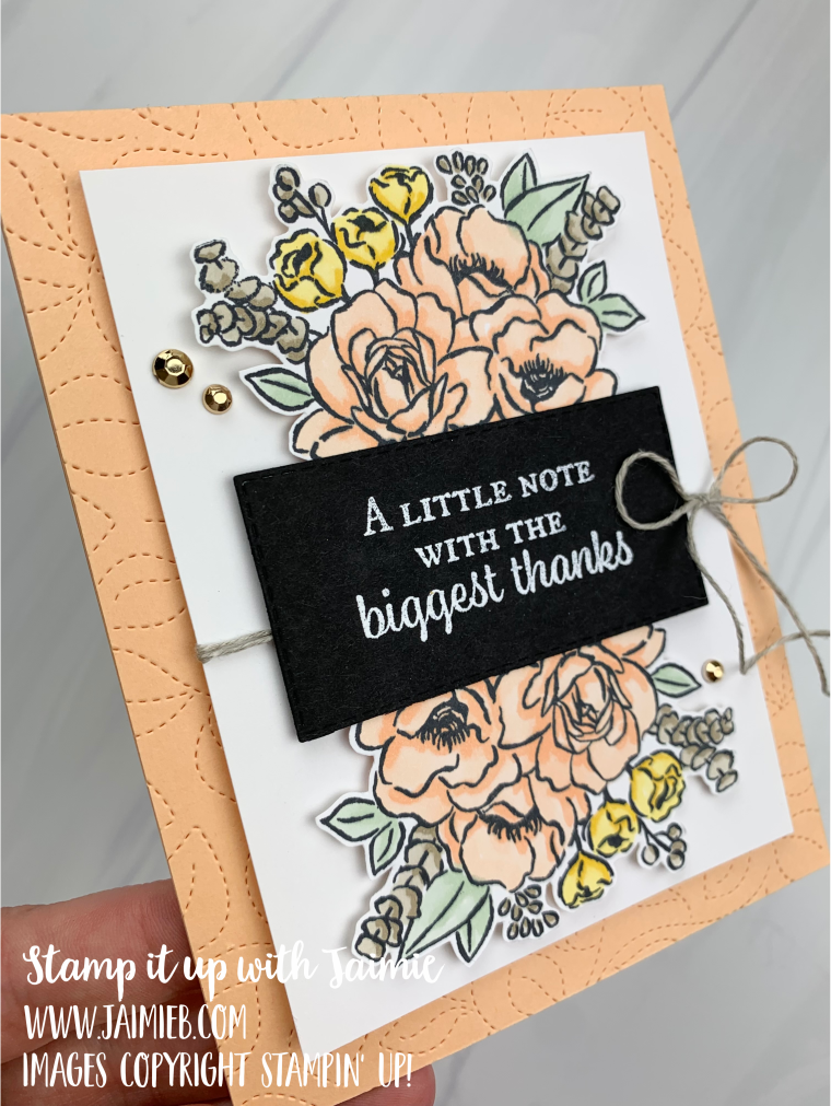 Stampin' Up! Jar of Flowers Thanks Card