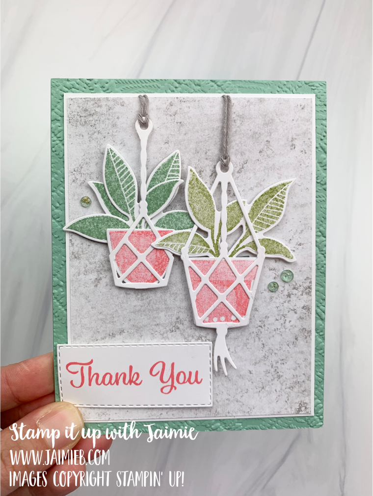 Stampin! Up! Plentiful Plants Thank You Card