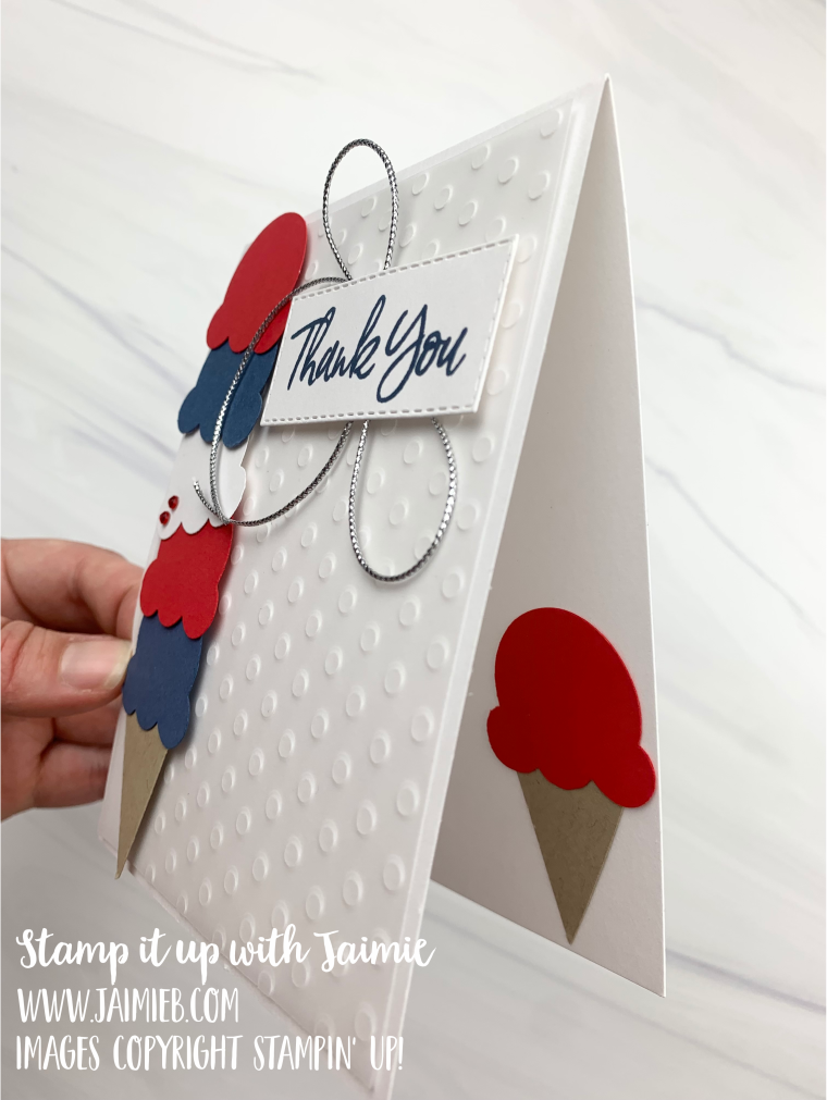 4 of 9 Stampin' Up! Sweet Ice Cream Patriotic Card