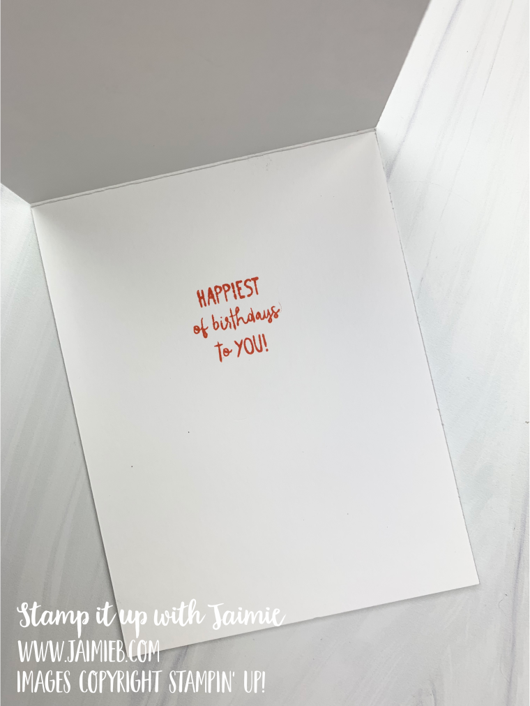 Stampin' Up! All Squared Away Birthday Card