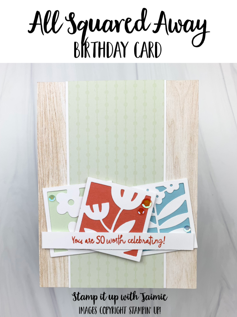Stampin' Up! All Squared Away Card