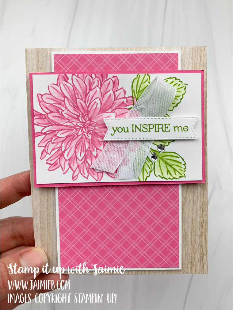Stampin' Up! Delicate Dahlias Card