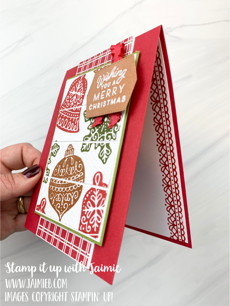 Stampin' Up! Frosted Gingerbread Card