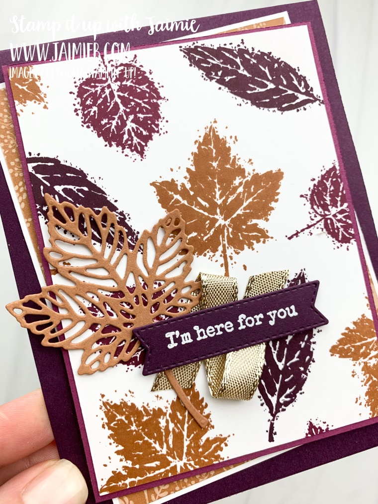 Stampin' Up! Gorgeous Leaves Card