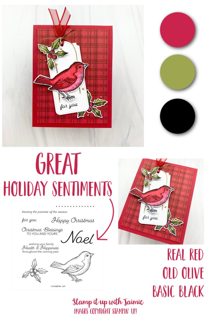 Stampin' Up! Happy Holly-Days Christmas Card