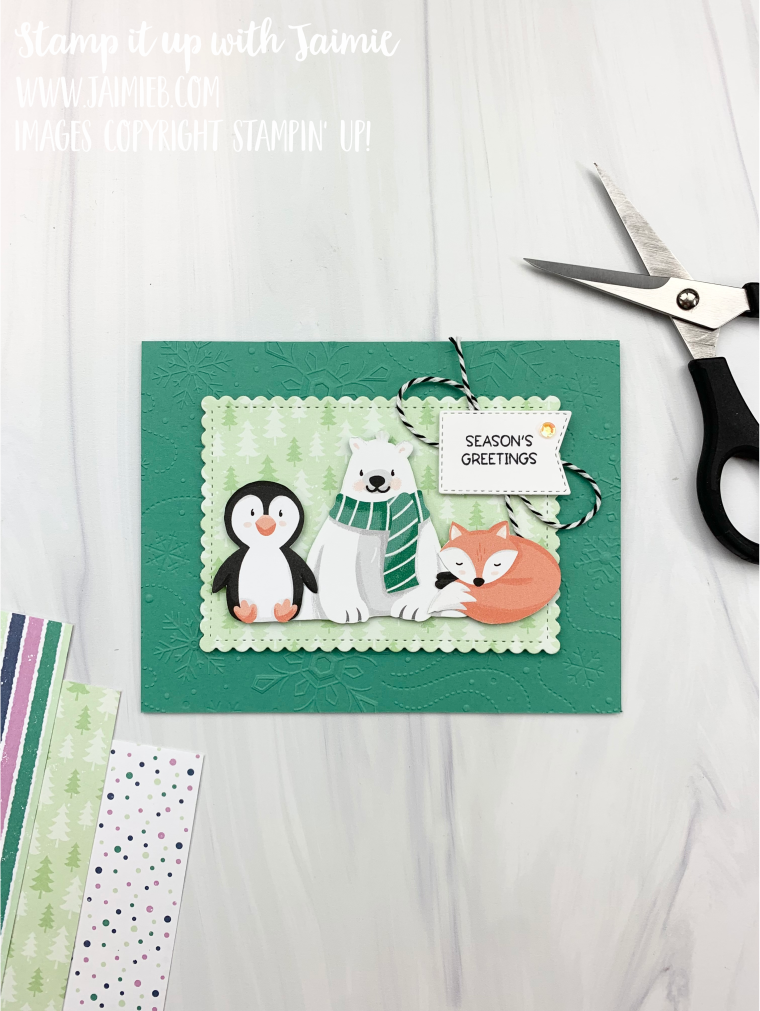 Stampin' Up! Penguin Place Christmas Card