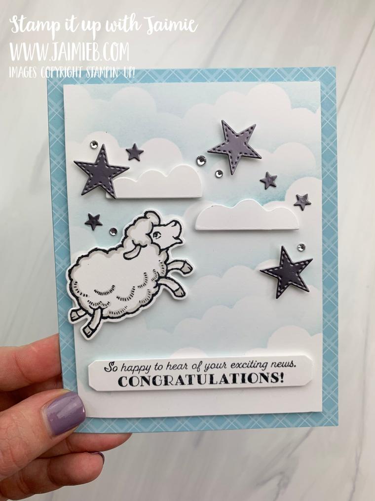 Stampin' Up! Counting Sheep Congrats Card
