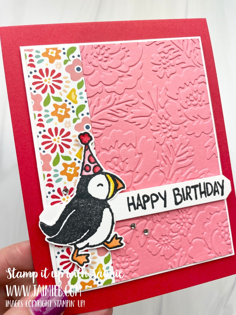 Stampin' Up! Party Puffins Birthday Card