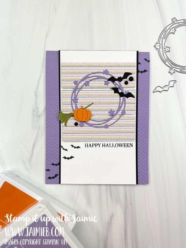 Stampin' Up! Sparkle of the Season Halloween Card
